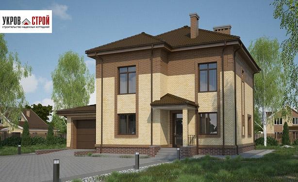 Дом из пеноблока по проекту C-185